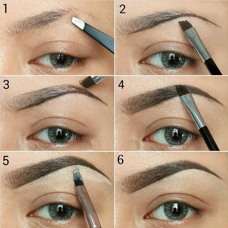 Пошаговая инструкция, как рисовать брови тенями