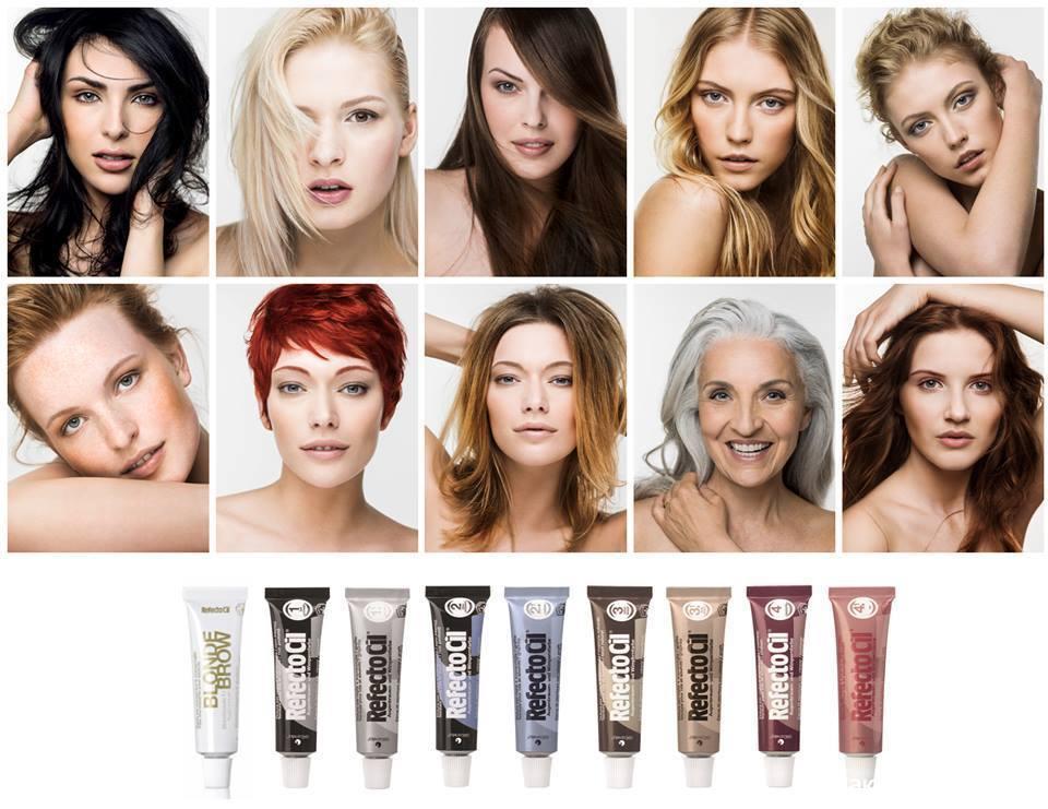 разные цвета волос