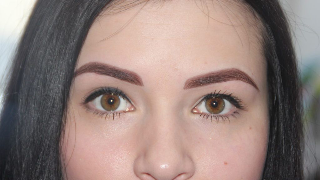 Перманентный макияж бровей до и после заживления