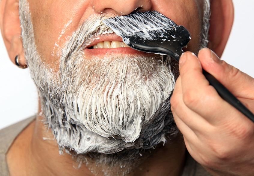 Как покрасить бороду в белый цвет?