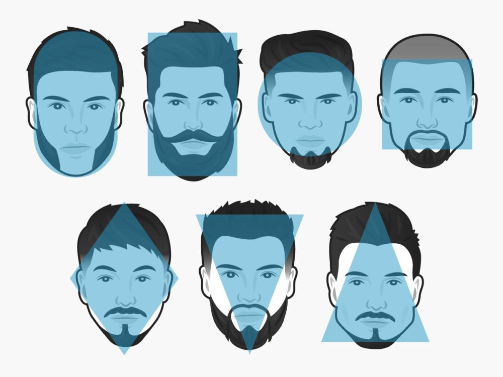 многообразие форм бороды и лица