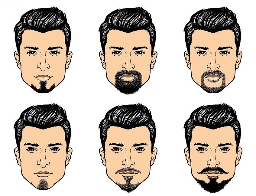 различные формы бороды