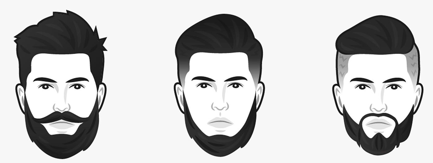 Борода для круглого лица