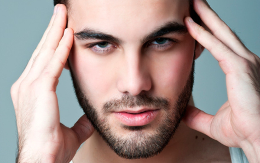 мужчина с ухоженной бородой
