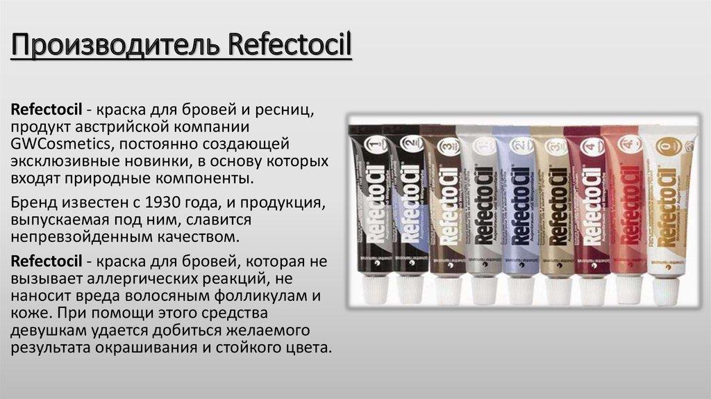 Рефектоцил - краска для бровей, инструкция по применению