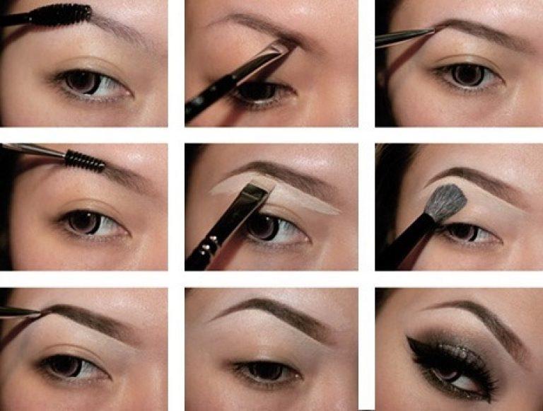 макияж бровей пошагово