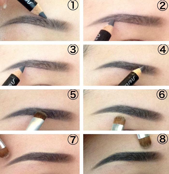 Как правильно нарисовать прямые брови самостоятельно
