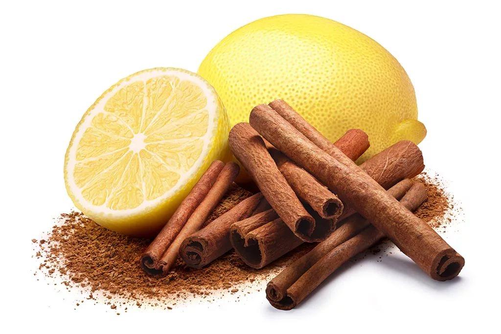 Корица с лимоном или лаймом