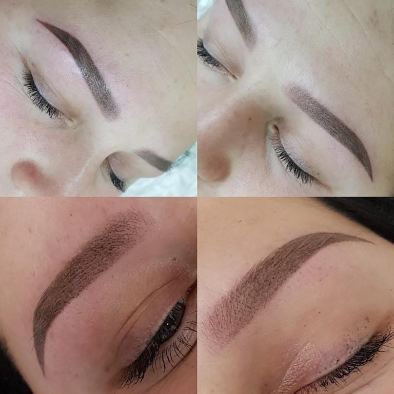 Перманентный макияж бровей в стиле омбре