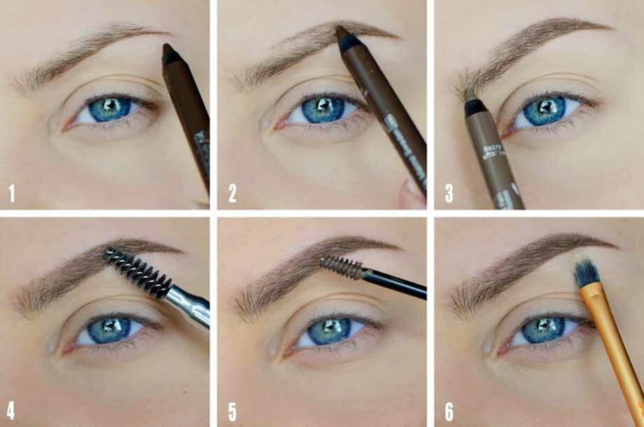 Как оформить брови карандашом