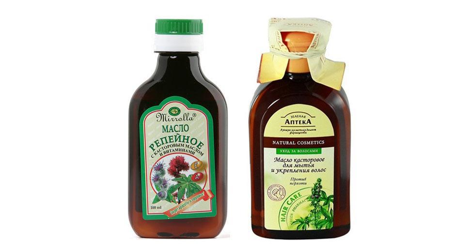 Сочетание репейного масла и касторки