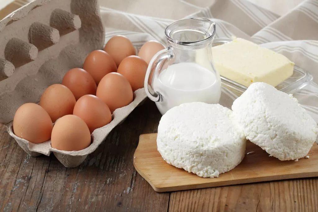 яйца, молочная продукция