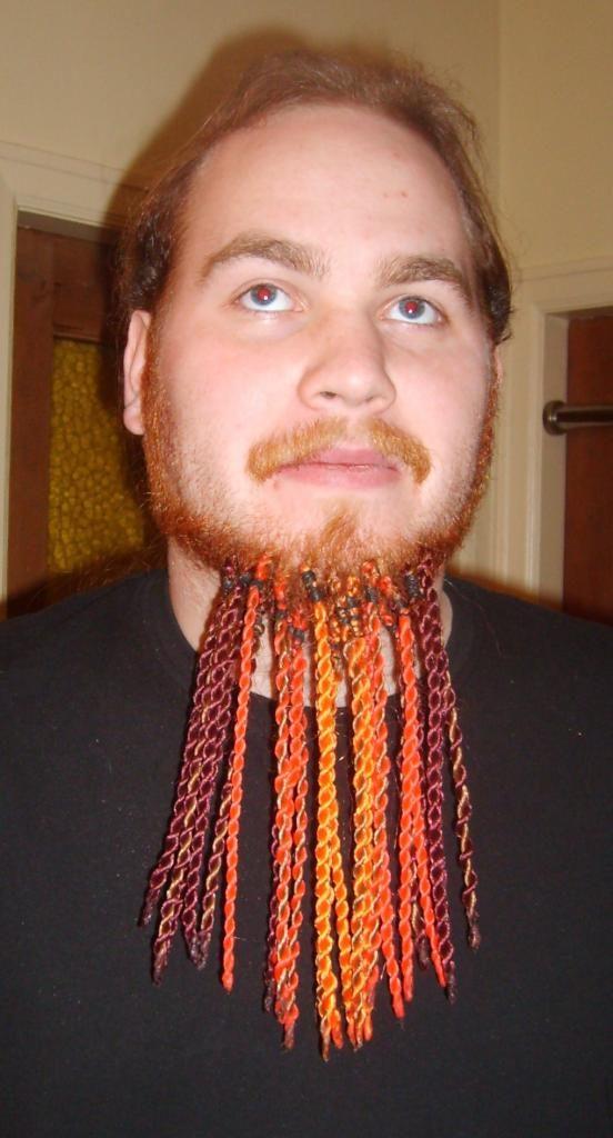 Афрокосички на бороде