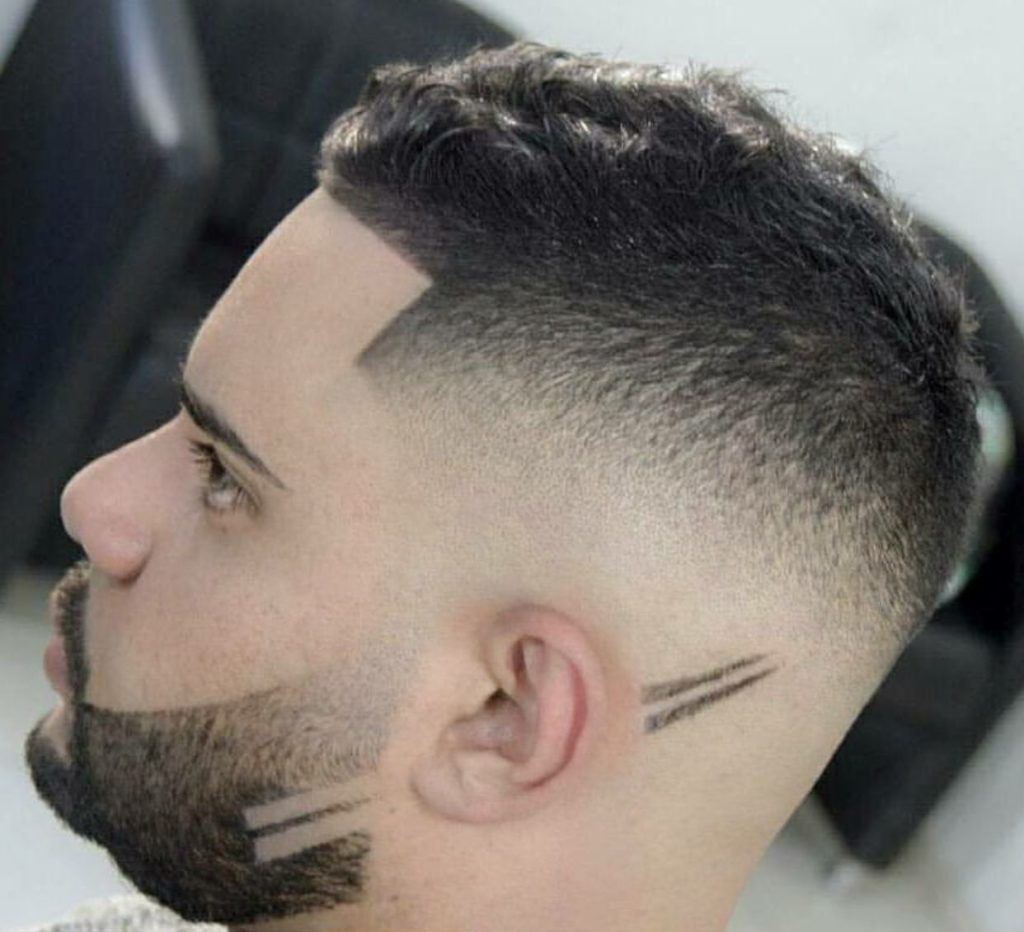 Как выбрить рисунок на бороде
