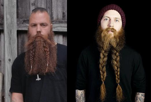 косички на бороде