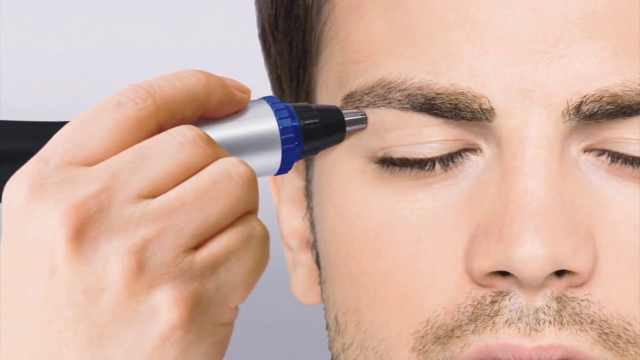 подстричь брови мужчине