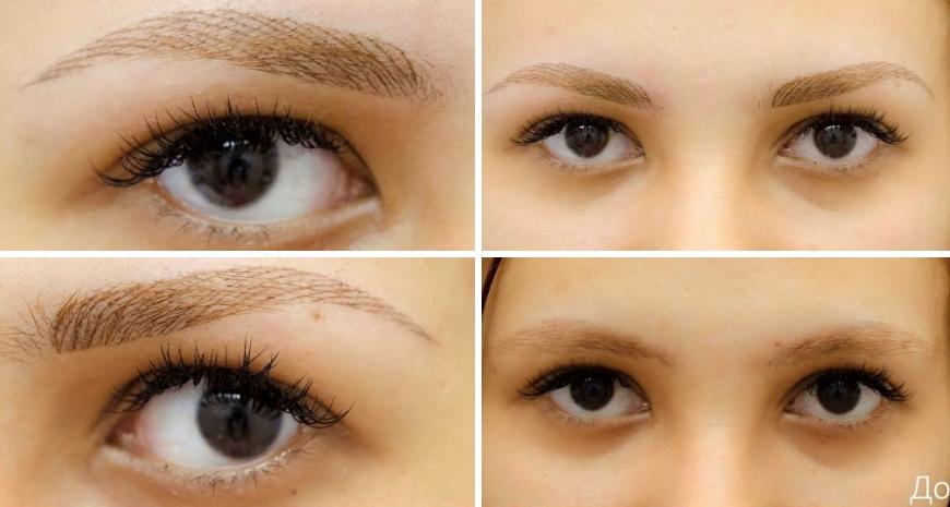 Окрашивание бровей методом напыления, что это такое, как выполняется, фото до и после