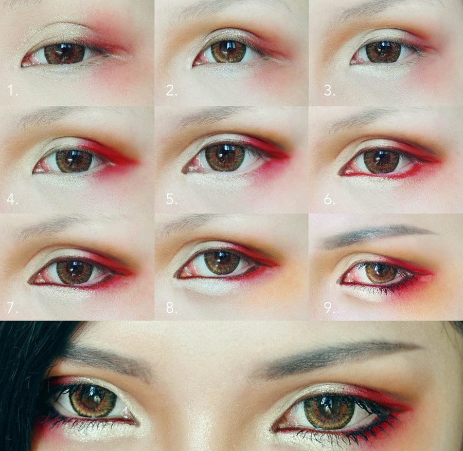 макияж в японском стиле пошагово
